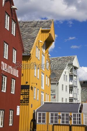 warehouses on skansen dockks tromso city