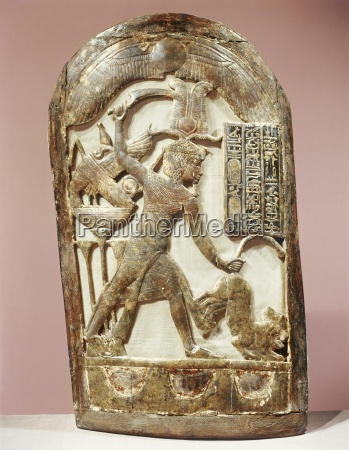 votive shield showing the king slaying