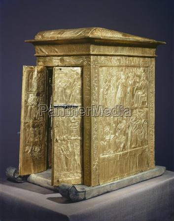 the gilt shrine which originally contained