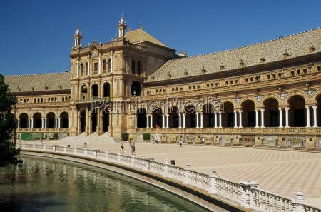 plaza de espana seville andalucia andalusia