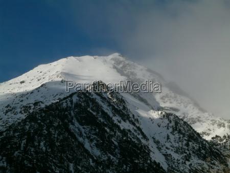 snowy mountain peaks in a beautiful