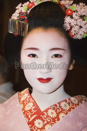 maiko trainee geisha entertainment at formal