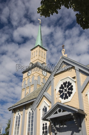 the wooden cathedral tromso norway scandinavia