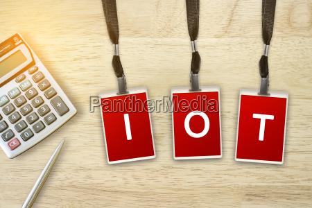 iot or internet of things word