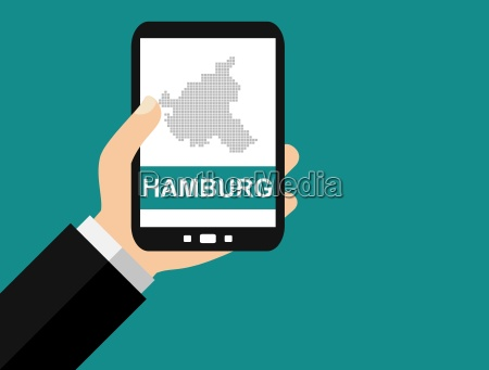 hamburg on the smartphone