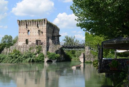 old visconti bridge in valeggio sul