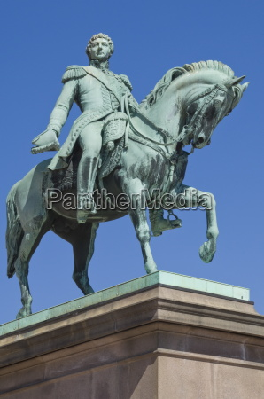 equestrian statue in front of the