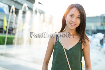 woman in bangkok city