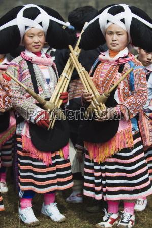 long horn miao women at lunar
