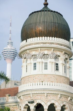 kl tower and sultan abdul samad
