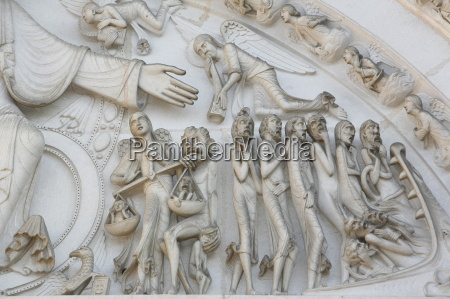 detail of the last judgment depicted