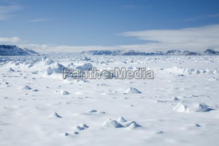 pack ice glacier spitsbergen svalbard norway