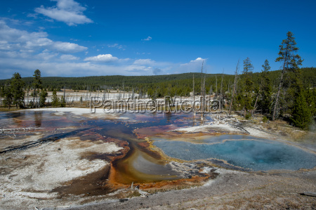 firehole spring yellowstone national park unesco