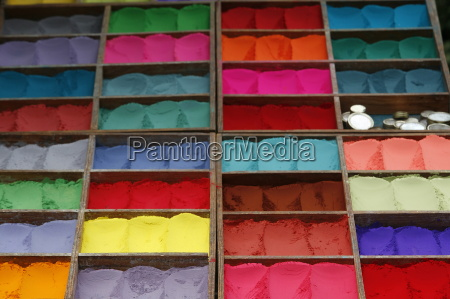 coloured powder for sale at market