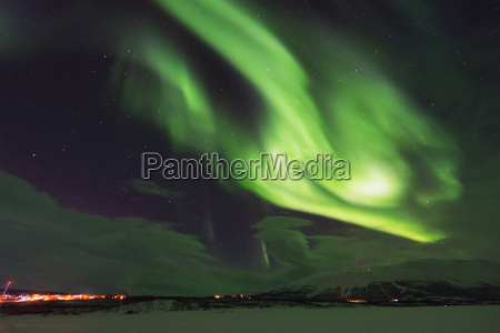 aurora borealis northern lights abisko lapland