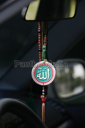muslim symbols in a car chatillon