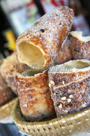 trdelnik a traditional sweet czech pastry