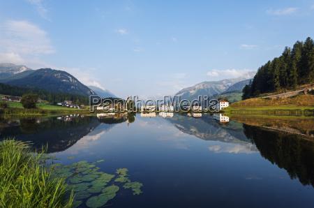 alpine village scuol tarasp engadine graubunden