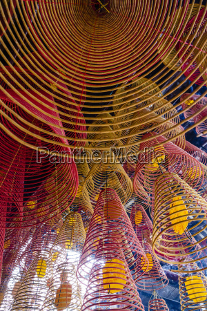 spiral incense sticks at ong temple