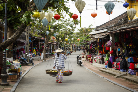 street scene hoi an vietnam indochina
