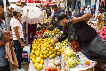 fruits and vegetables stalls at mapusa