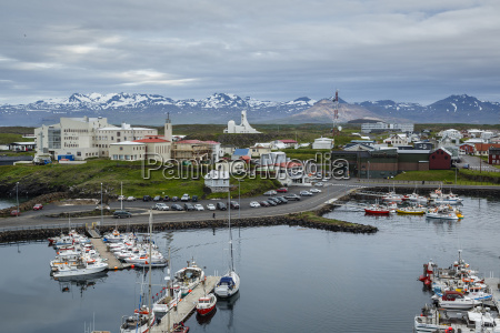 view over the fishing port and