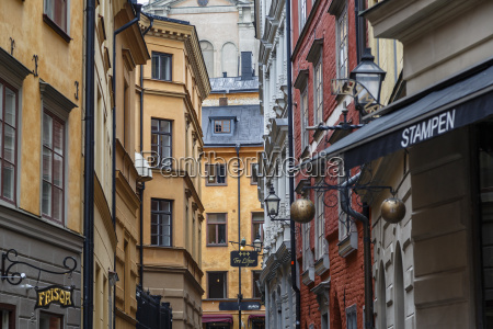 buildings in gamla stan stockholm sweden