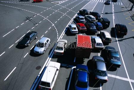traffic near the kremlin moscow russia