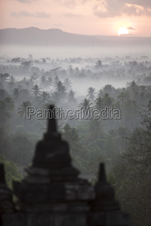 borobudur unesco world heritage site java