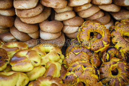 sesame round bread in the old