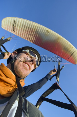 tourist paragliding in san gil adventure