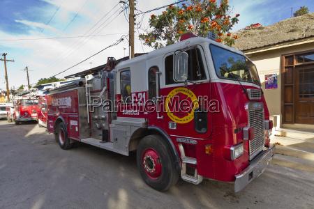 fire truck santa rosalia gulf of