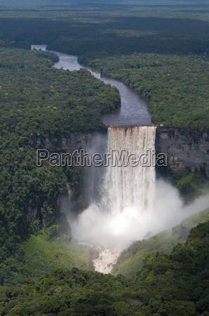 aerial view of kaieteur falls and