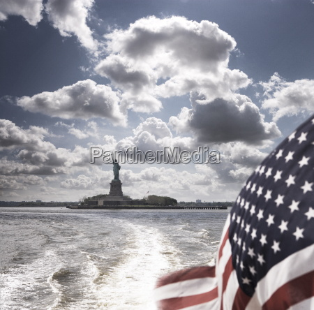 view of statue of liberty from
