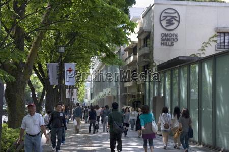 omotesando hills shopping center in the