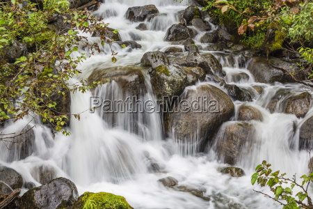 small waterfall near mendenhall glacier southeast