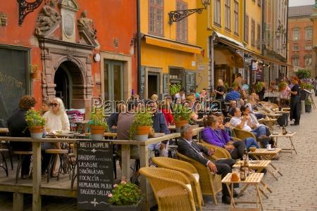 stortorget square cafes gamla stan stockholm