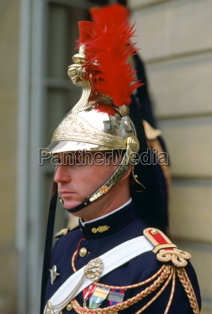 a ceremonial guard at the elysee