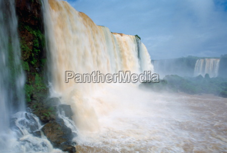 water thundering over the iguaco falls