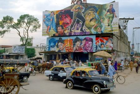 street scene in islamabad pakistan showing