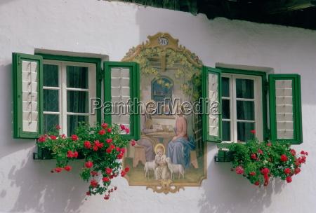 in the austrian tyrol a farmhouse