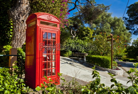 red telephone box alameda gardens gibraltar