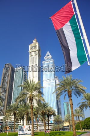 skyscrapers on sheikh zayed road and