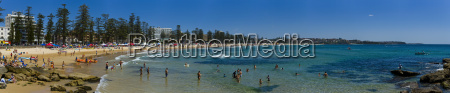 panoramic of surf lifesaving contest manly