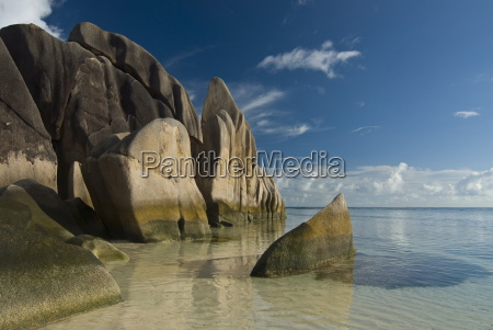 extraordinary rock formations on the coast