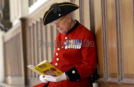 chelsea pensioner alan gale at the