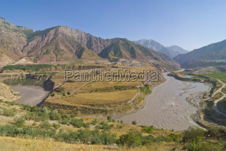 mountainous landscape on the road between