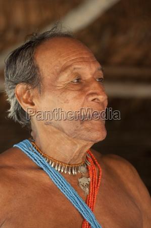 medicine man with facial tattoo healer