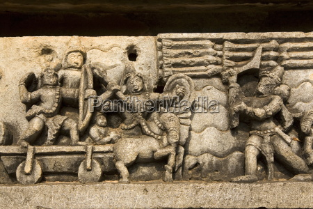 a bas relief detail showing hoysala