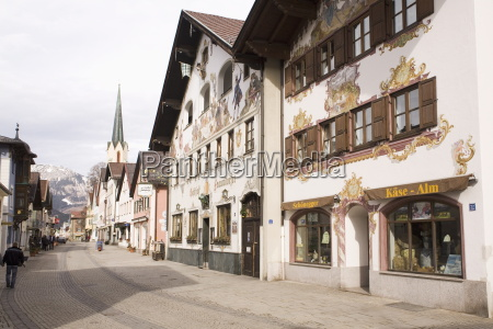 traditional bavarian buildings on the historic
